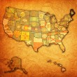 Stock Photo: Maine on map of usa
