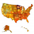 Minnesota on map of usa — Stock Photo