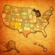 Michigan on map of usa — Stock Photo