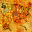 Oregon on map of usa — Stock Photo