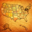 Pennsylvania on map of usa — Stock Photo