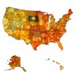 South dakota on map of usa — Stock Photo