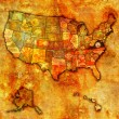 Virginia on map of usa — Stock Photo