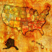 Alaska on map of usa — Stock Photo