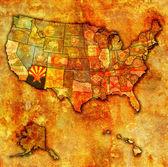 Arizona on map of usa — Stock Photo