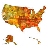 California on map of usa — Stock Photo