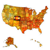 Colorado on map of usa — Stockfoto