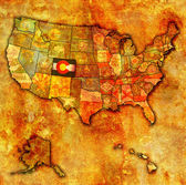 Colorado on map of usa — ストック写真