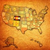 Colorado on map of usa — Stock Photo