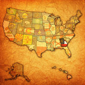 Georgia on map of usa — Stock Photo