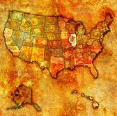 Abd haritası üzerinde illinois — Stok fotoğraf