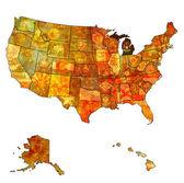 Michigan on map of usa — Stock Photo