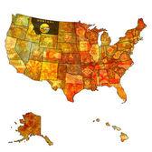Montana on map of usa — Stock Photo