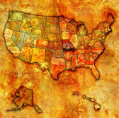 Missouri on map of usa — ストック写真