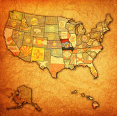 Missouri on map of usa — Stock Photo