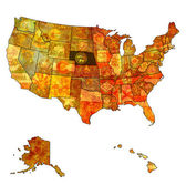 Nebraska on map of usa — ストック写真