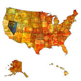 Nevada on map of usa — Stock Photo
