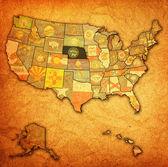 Nebraska on map of usa — Stock Photo