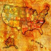 North carolina on map of usa — Stock Photo