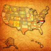 North carolina on map of usa — ストック写真
