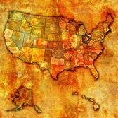 Ohio on map of usa — Stock Photo
