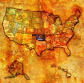 Oklahoma on map of usa — ストック写真