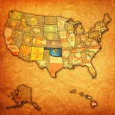 Oklahoma on map of usa — Stock Photo