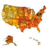 Pennsylvania on map of usa — Стоковое фото