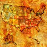 Pennsylvania on map of usa — Stock Photo