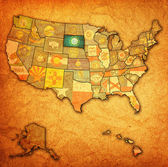 South dakota on map of usa — ストック写真