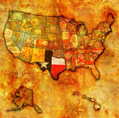 Texas on map of usa — Stock Photo