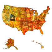 Utah on map of usa — Stock Photo
