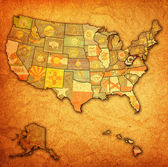 West virginia on map of usa — Stock Photo
