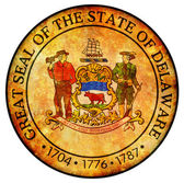 Delaware coat of arms — Stock Photo