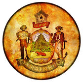 Maine coat of arms — Stock Photo