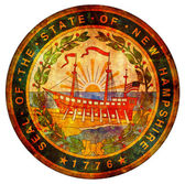 New hampshire coat of arms — Stock Photo