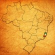 Stock Photo: Espirito santo state on map of brazil