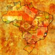 Stok fotoğraf: Espirito santo state on map of brazil