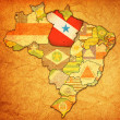 Stock Photo: Para state on map of brazil
