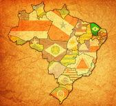 Ceara on map of brazil — Fotografia Stock