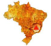 Minas gerais state on map of brazil — Stock Photo