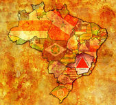 Minas gerais state on map of brazil — Stock Photo