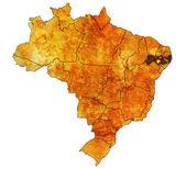 Pernambuco state on map of brazil — Stock Photo