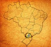 Parana state on map of brazil — Stock Photo
