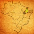 Piaui state on map of brazil — Stock Photo #41100039