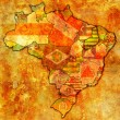 Stock Photo: Piaui state on map of brazil