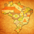 Rio grande do norte on map of brazil — Stock Photo