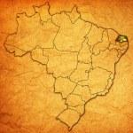 Rio grande do norte on map of brazil — Stock Photo #41100349