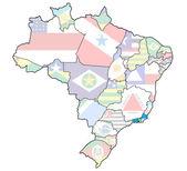 Rio de janeiro state on map of brazil — Stock Photo