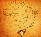 Rio grande do sul on map of brazil — Stock Photo